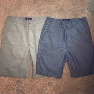 Two pair of mens Champs Sports Gear shorts.